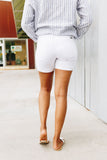 Right Stuff White Denim Shorts