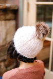 What The Fuzz Beanie In Ivory