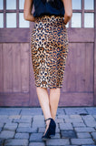 You've Been Spotted Animal Print Pencil Skirt