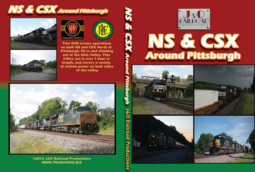 NS & CSX Around Pittsburgh Blu Ray