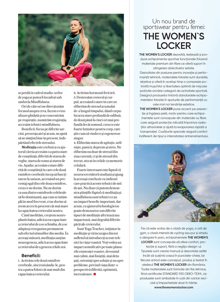 REVISTA SHAPE ROMANIA THE WOMEN'S LOCKER