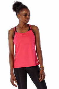 THE WOMEN'S LOCKER Pink Running Essential Top