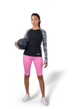 THE WOMEN'S LOCKER Aztec Rash Guard
