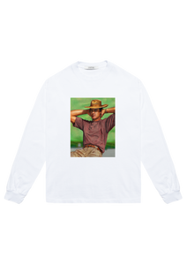 Cowboy Long Sleeve T-Shirt White