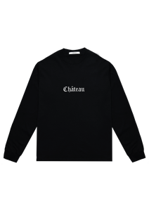 Embroidered Long Sleeve T-Shirt Black