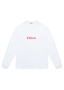 Embroidered Long Sleeve T-Shirt White