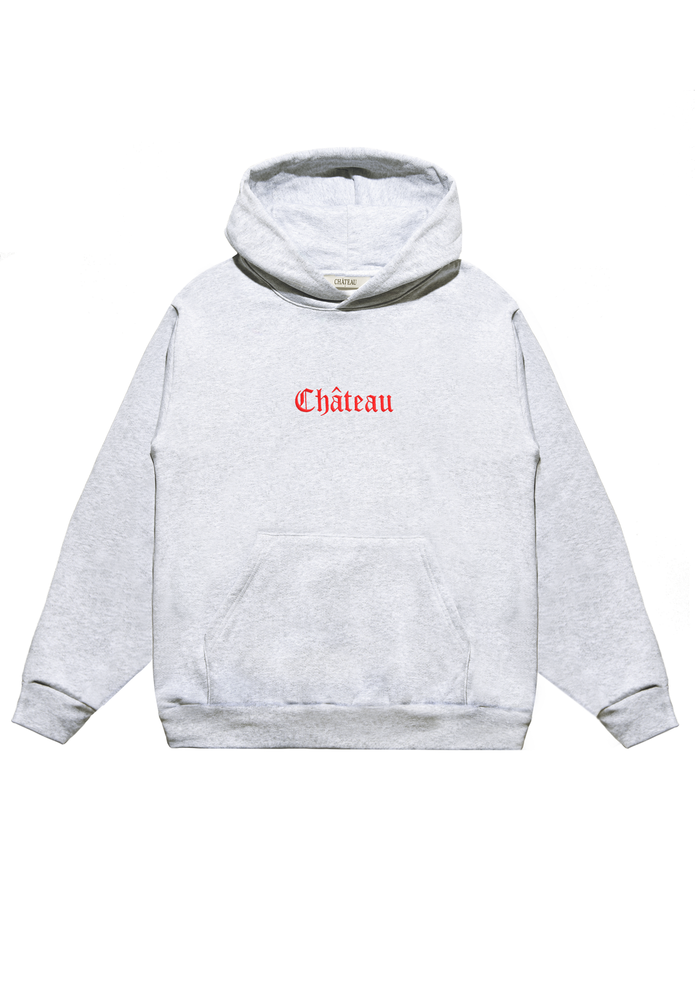 Embroidered Hoodie Ash Grey