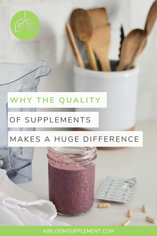 Quality Supplements Make a Huge Difference