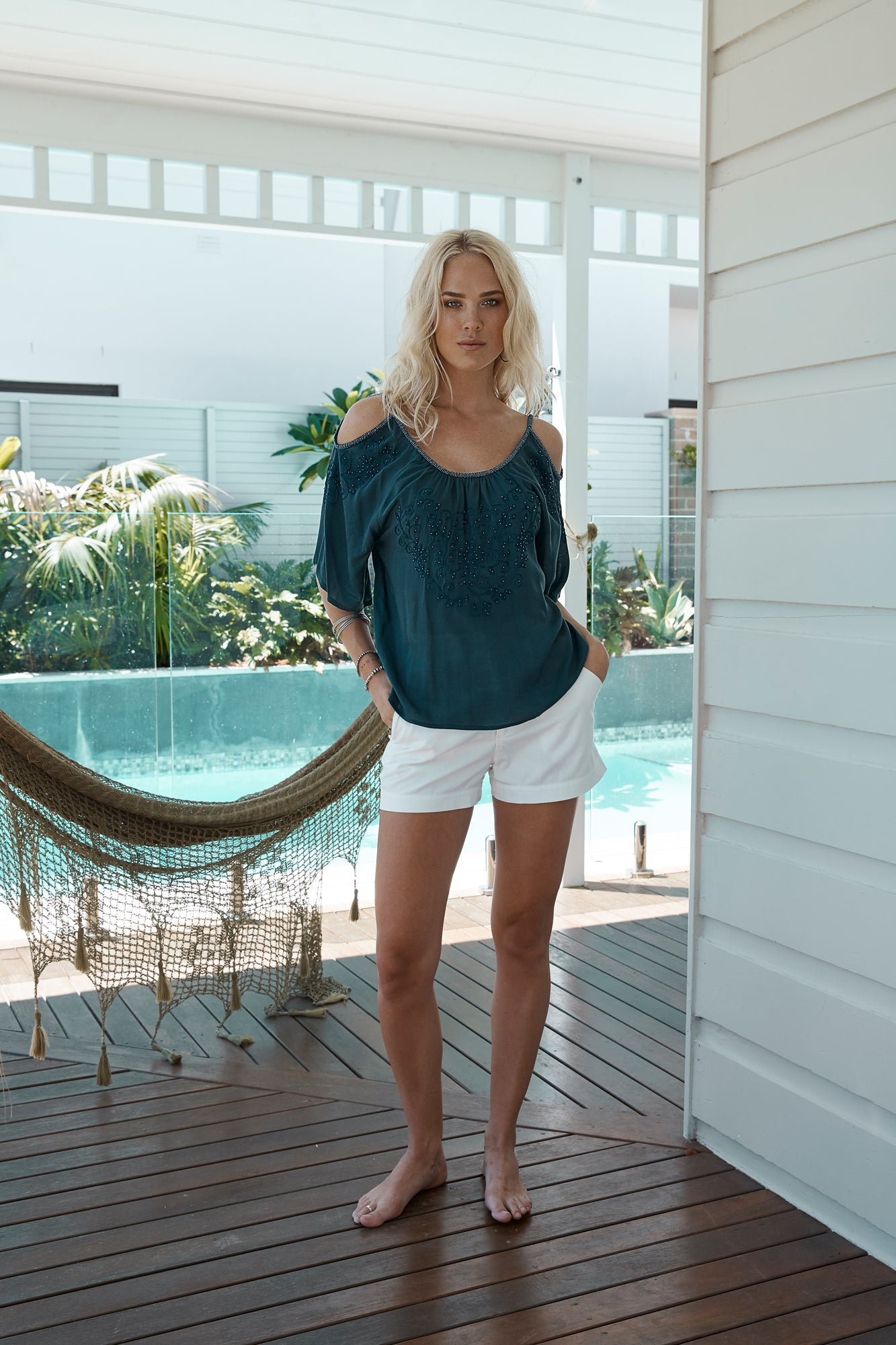 Barbados Fern Top from Island Jade- Indigo M/L