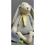 Striped Bunny with Scarf Soft Toy
