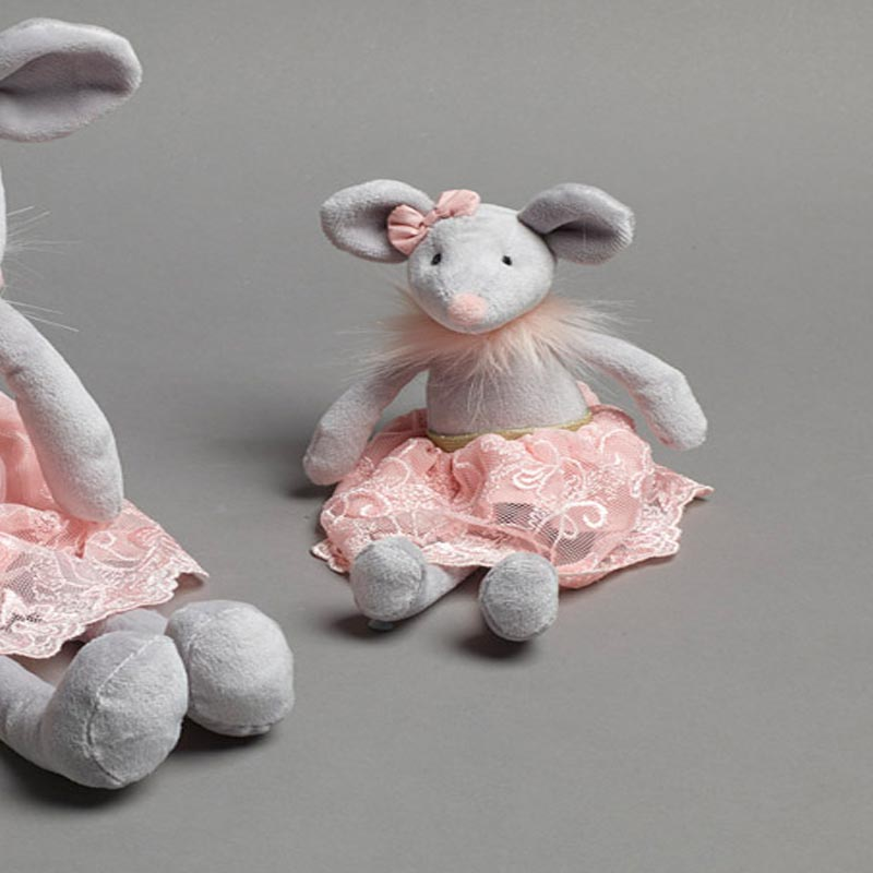 Molly Ballerina Mouse Rattle Soft Toy