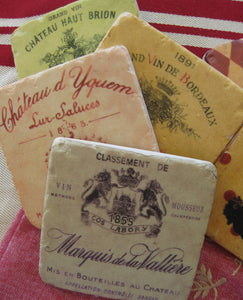 Assorted Square Bordeaux Coasters