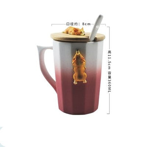 3D Corgi or French Bulldog Ceramic Mug