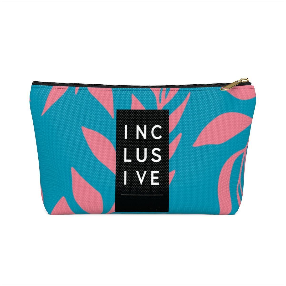 Inclusive Accessory Pouch, Pink Fern