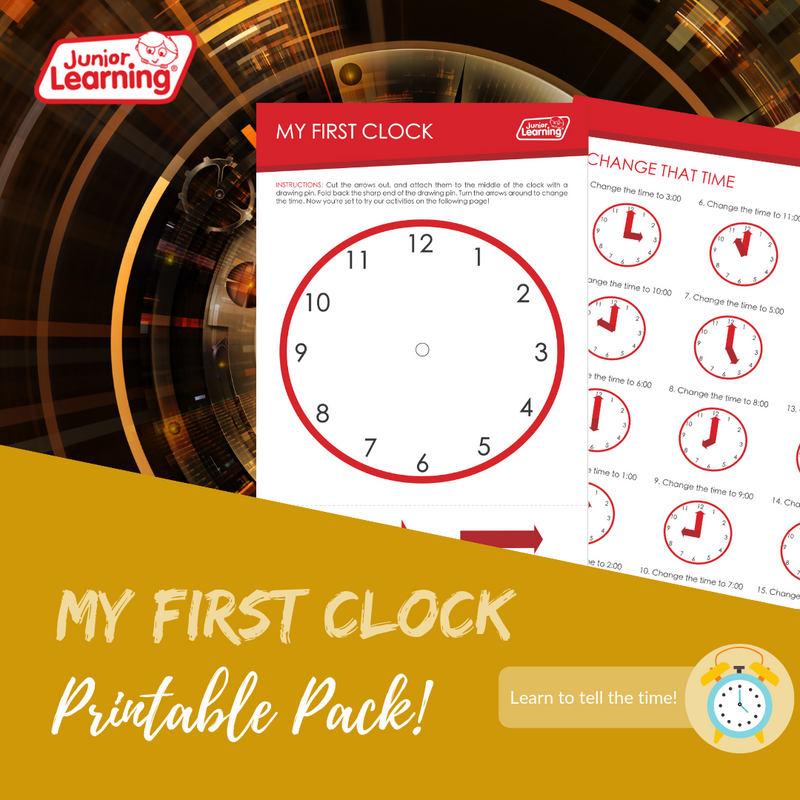 My First Clock Printables