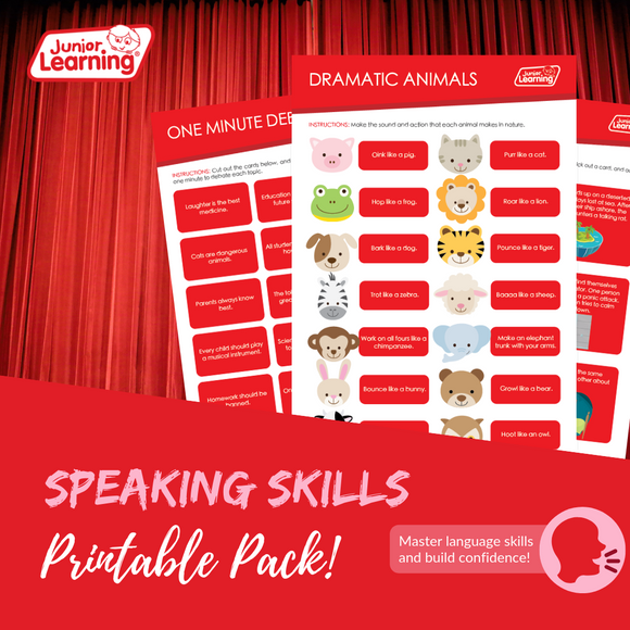 Speaking Skills Printables