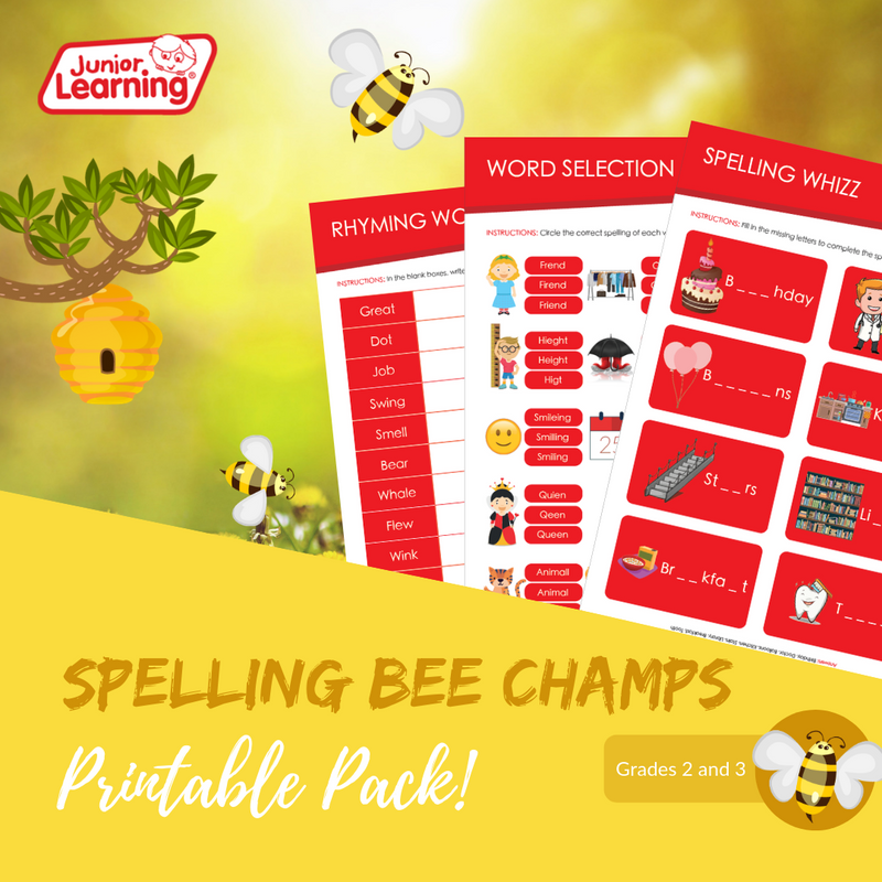 Spelling Bee Champs Printables