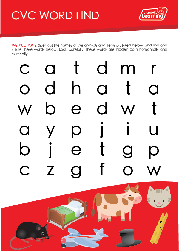 CVC Word Find Printable