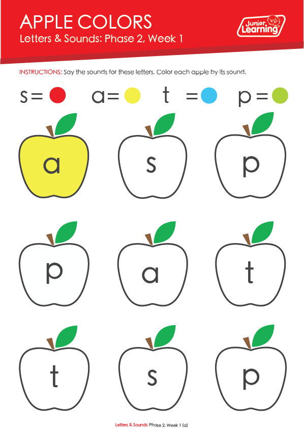 """Apple Colors"" Worksheet"