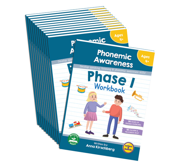 Phase 1 Phonemic Awareness Workbook - 12 Pack