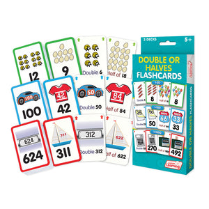 Double or Halves Flashcards
