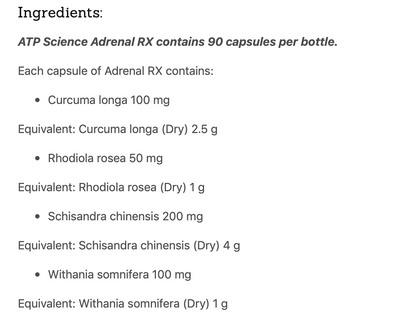 ATP SCIENCE Adrenal Rx