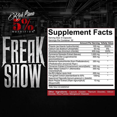5% NUTRITION Freak Show