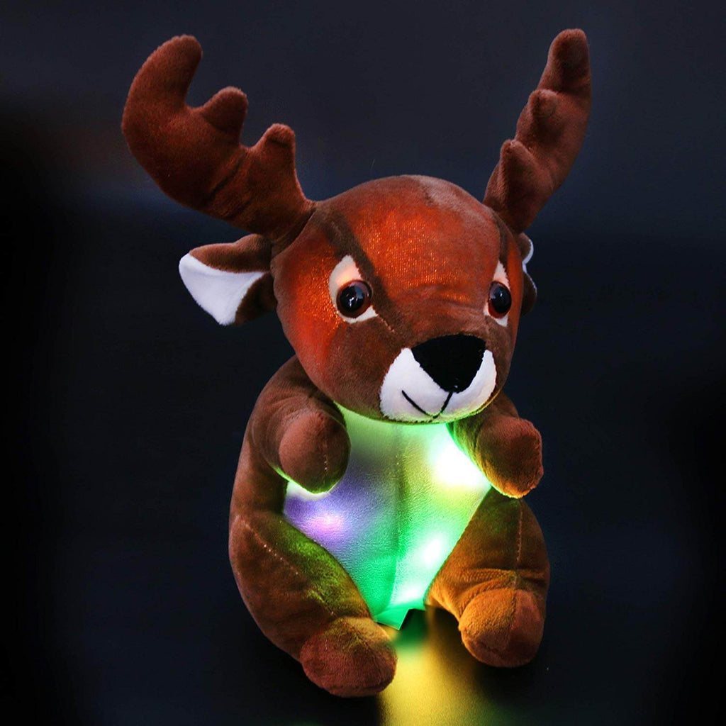 stuffed reindeer moose plush light up toy, 10'' | Bstaofy - Glow Guards