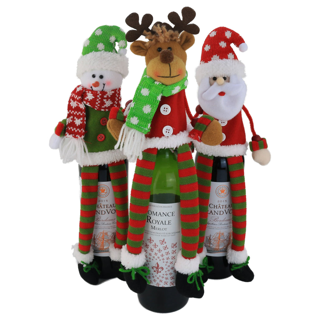 Christmas Wine Bottle Cover | Gift Set Decoration, 14 inch - Glow Guards
