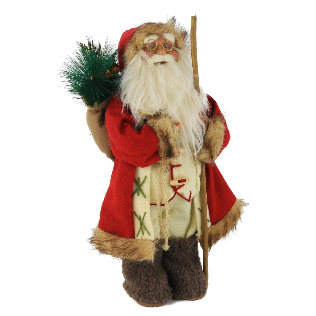 Handmade Santa Claus figure Christmas decoration 16.5'',red | Bstaofy - Glow Guards