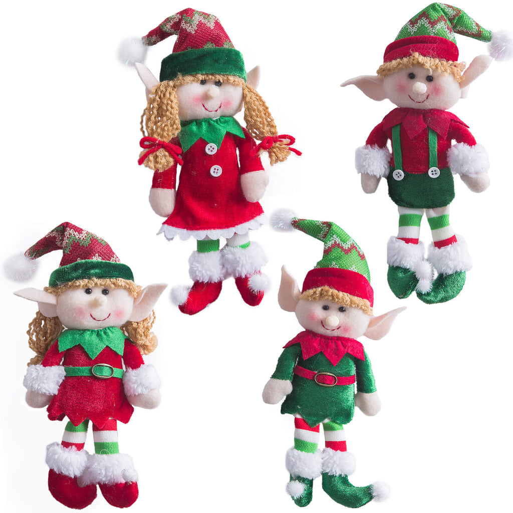 Christmas elves dolls lexible Christmas Elves Dolls, 4 pc | Bstaofy - Glow Guards