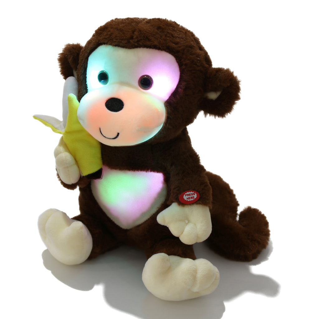 night light plush monkey, brown, 12.5 inch | Bstaofy - Glow Guards