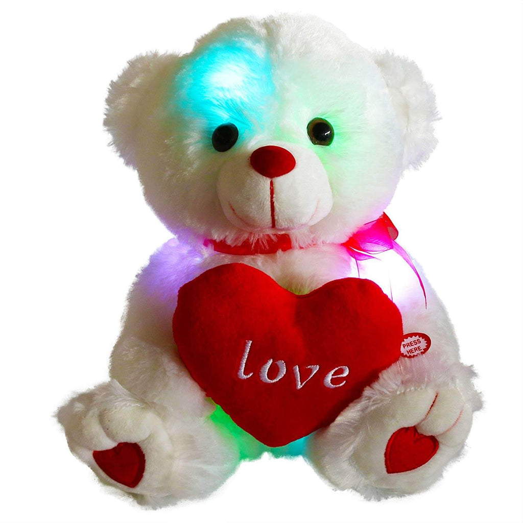 light up teddy bear love gift, 10.5-inch | Bstaofy - Glow Guards