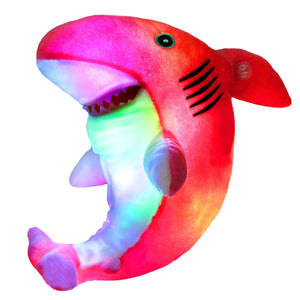 LED stuffed light up shark plush toy, 10'' | Bstaofy - Glow Guards