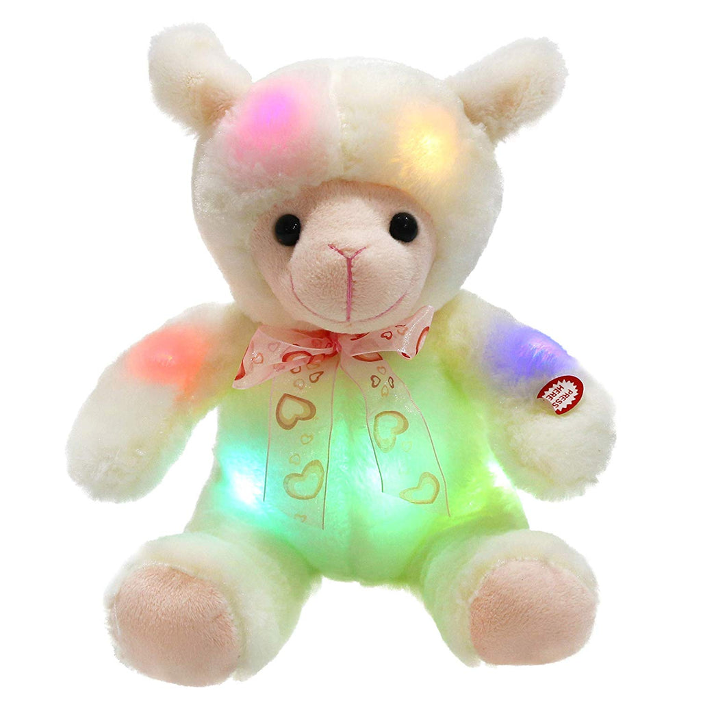 stuffed light up lamb with 30-min timer cuddly toys, 9 Inch | Bstaofy - Glow Guards