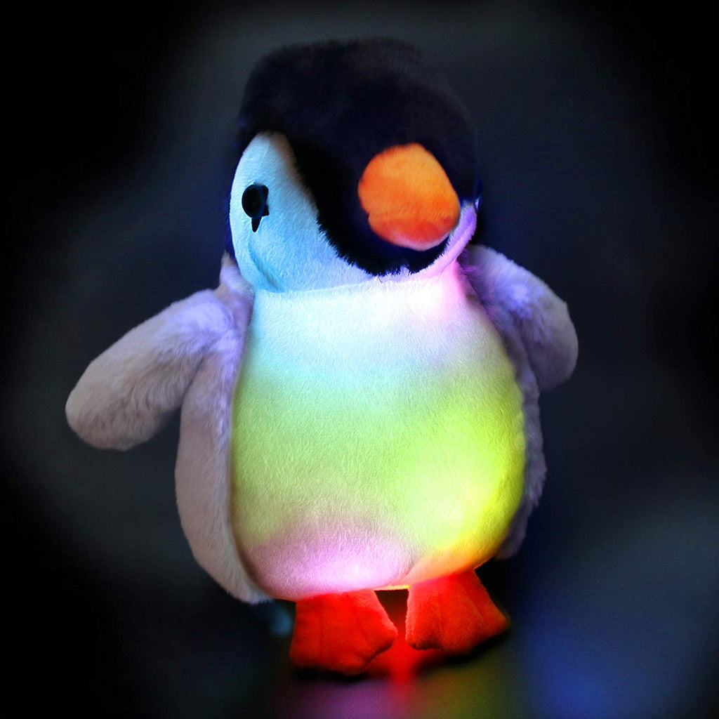 night light penguin stuffed plush toys for kid bedtime, 11'' | Bstaofy - Glow Guards