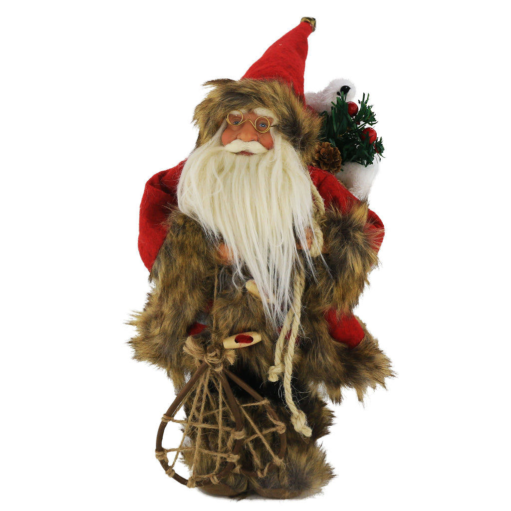 Santa Claus figure Christmas decoration 16.5'', brown | Bstaofy - Glow Guards