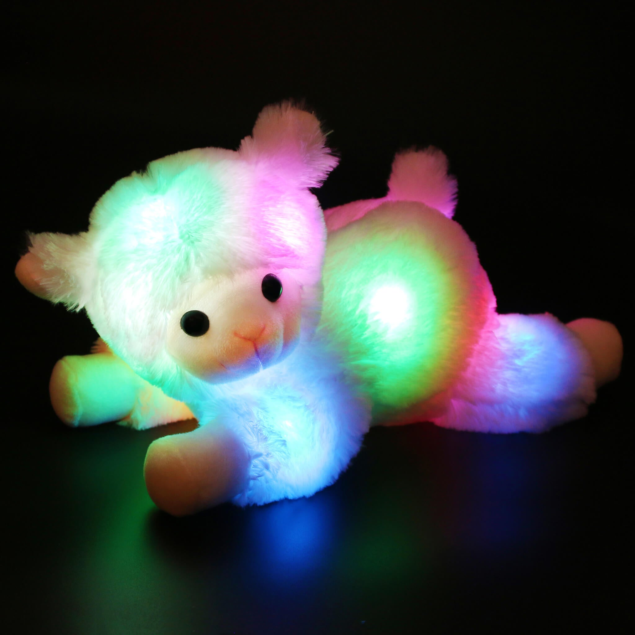 stuffed laying lamb plush toy glow sheep, 14.5'' | Bstaofy - Glow Guards