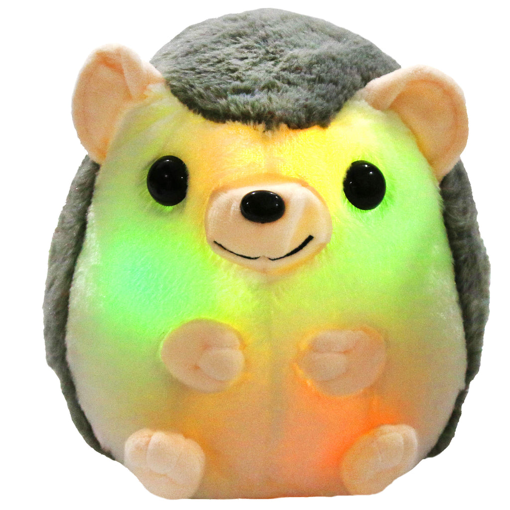 LED stuffed hedgehog toy light up plush, 10'' | Bstaofy - Glow Guards