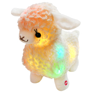 light up stuffed lamb soft sheep plush Toy, 10'' | Bstaofy - Glow Guards