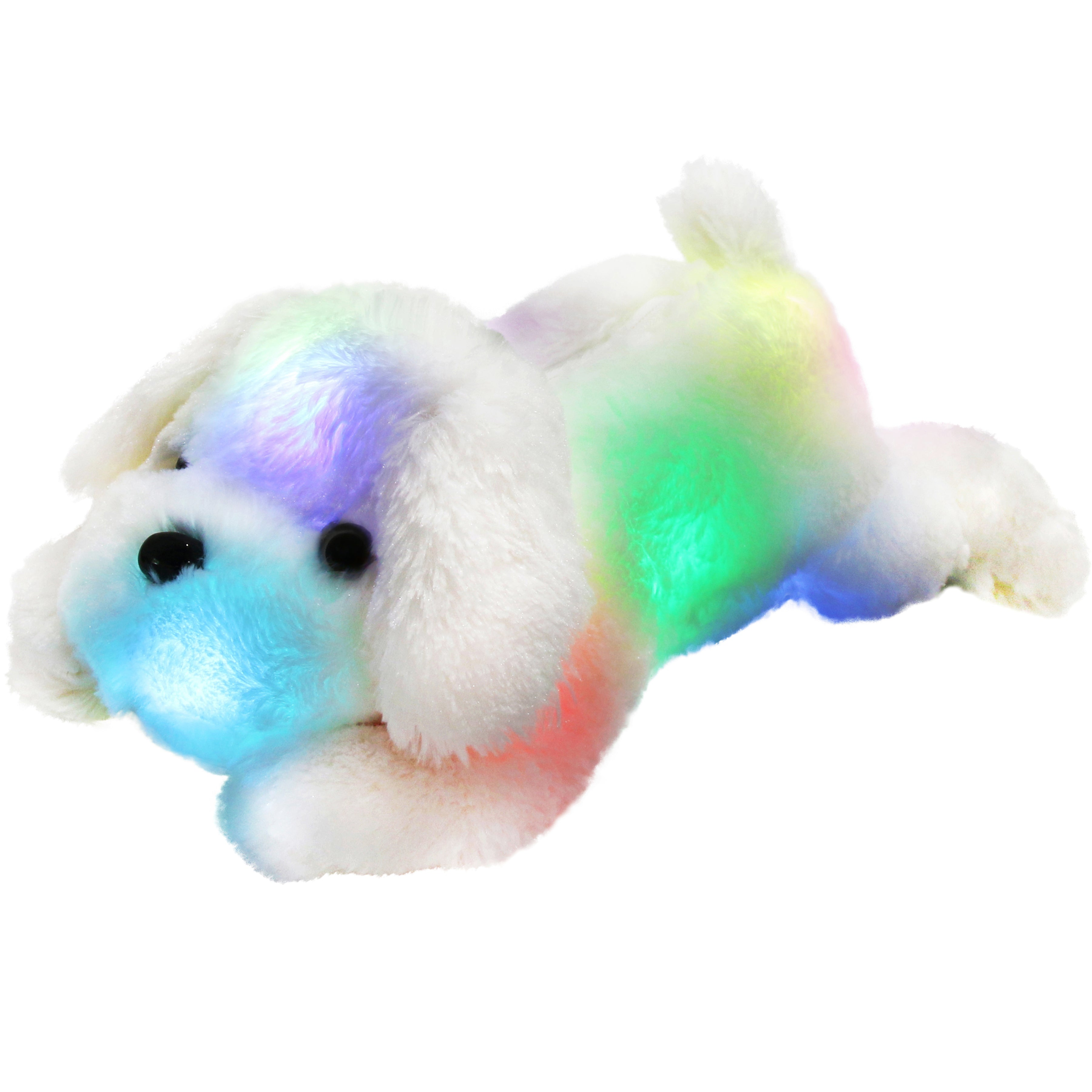 night light up puppy LED stuffed dogs, 18-Inch | Bstaofy - Glow Guards