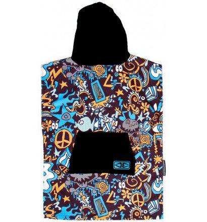 Poncho Ocean Earth YOUTH hooded skull