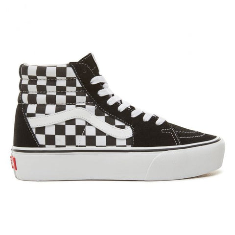 VANS SK8-Hi Plattform 2 checkerboard/white
