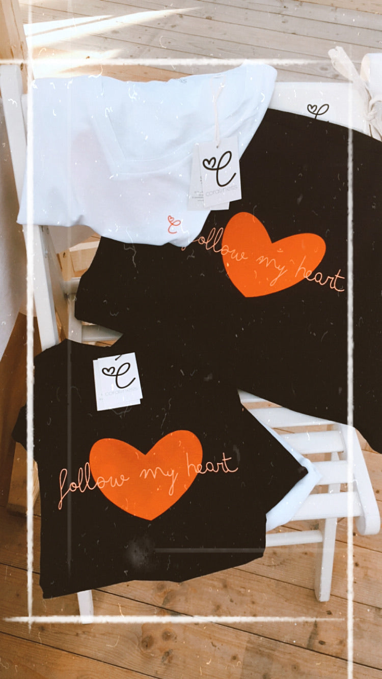 """follow my heart"" shopping bag"