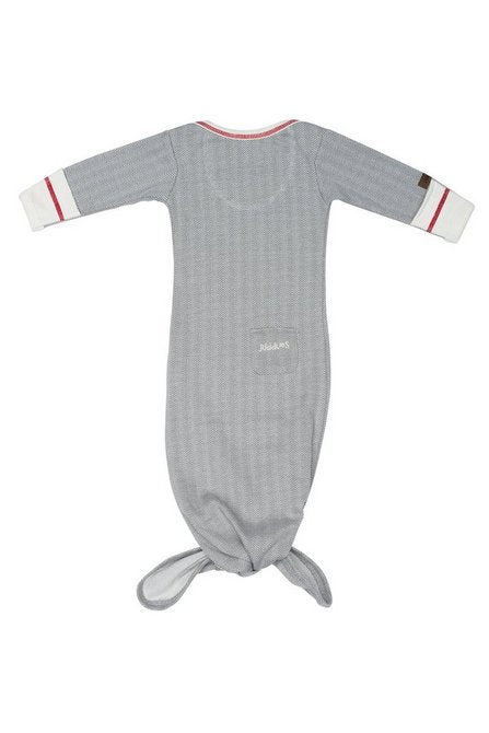 Organic Knotted Night Gown - Driftwood Grey - 0-3 months