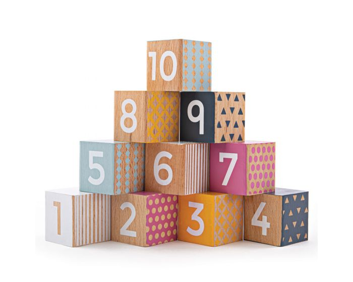 Wooden Number Blocks - Moo Like a Monkey