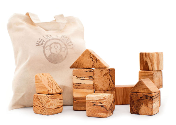 Spalted Beech Wooden Blocks
