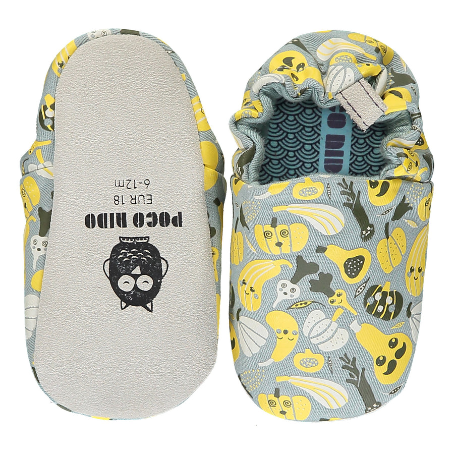 Baby and toddler shoes: Harvest Grey Mini Shoes - Moo Like a Monkey