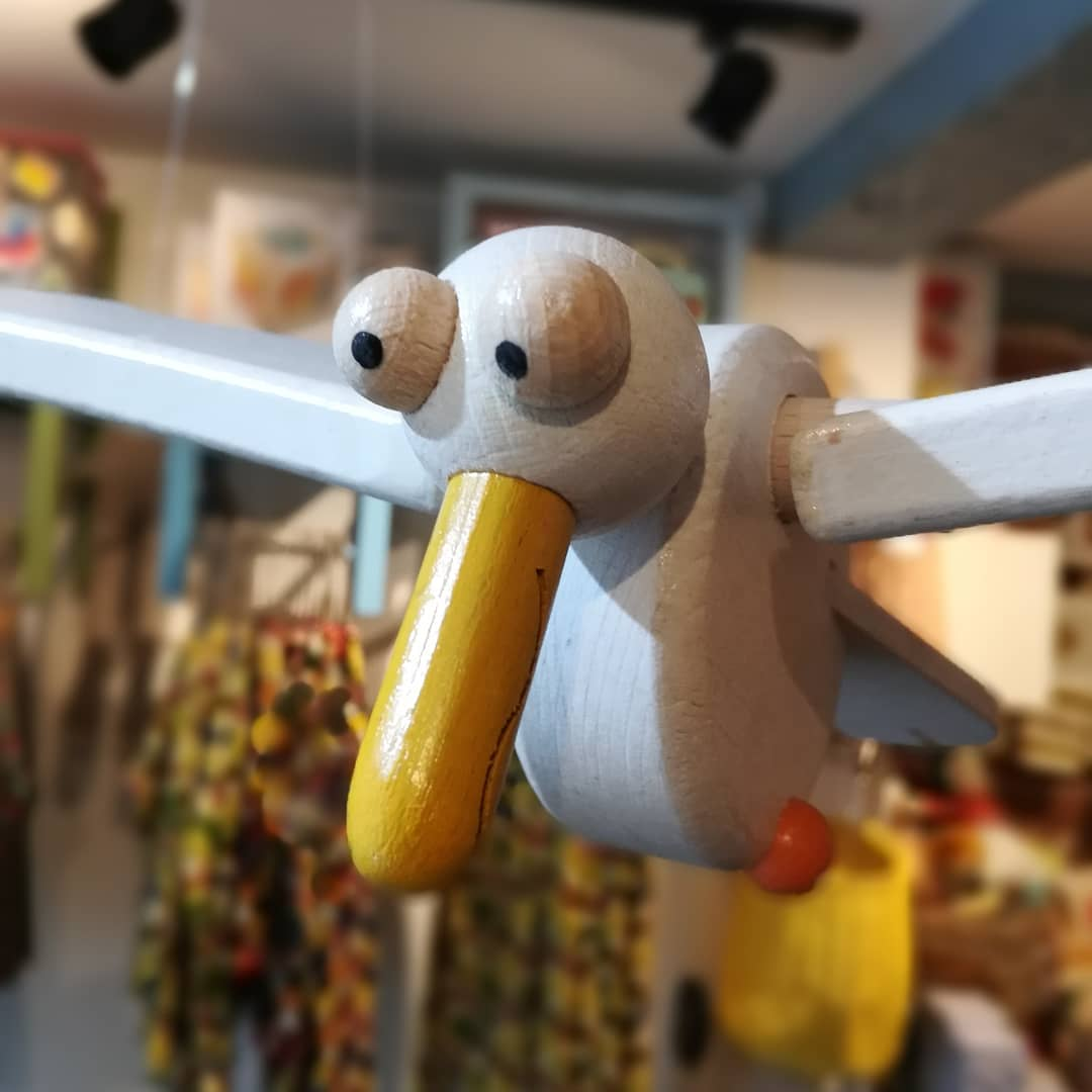 Wooden Seagull Mobile - Moo Like a Monkey