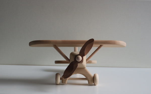 Wooden Airplane with Rotor Turbines